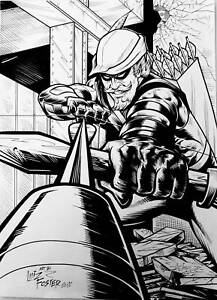 DC-Comics-GREEN-ARROW-Original-Art-BATMAN-SUPERMAN-WONDER-WOMAN-FLASH-LANTERN
