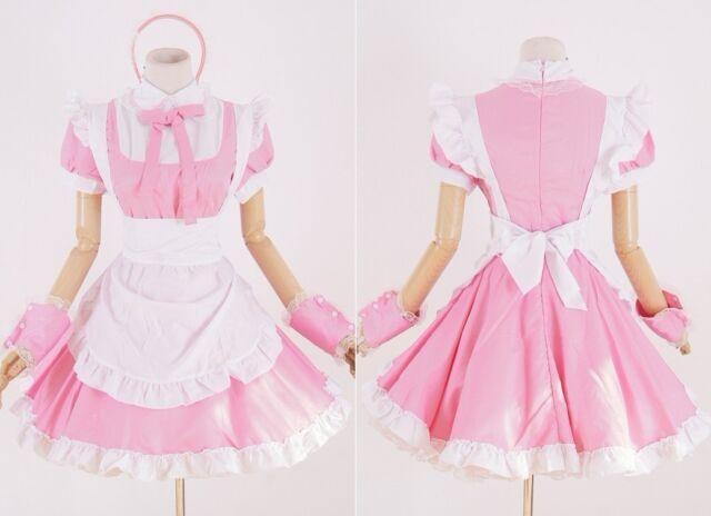 Z-11 Gr S M One Size pink Maid Dienstmädchen Cosplay Kleid dress Kostüm costume