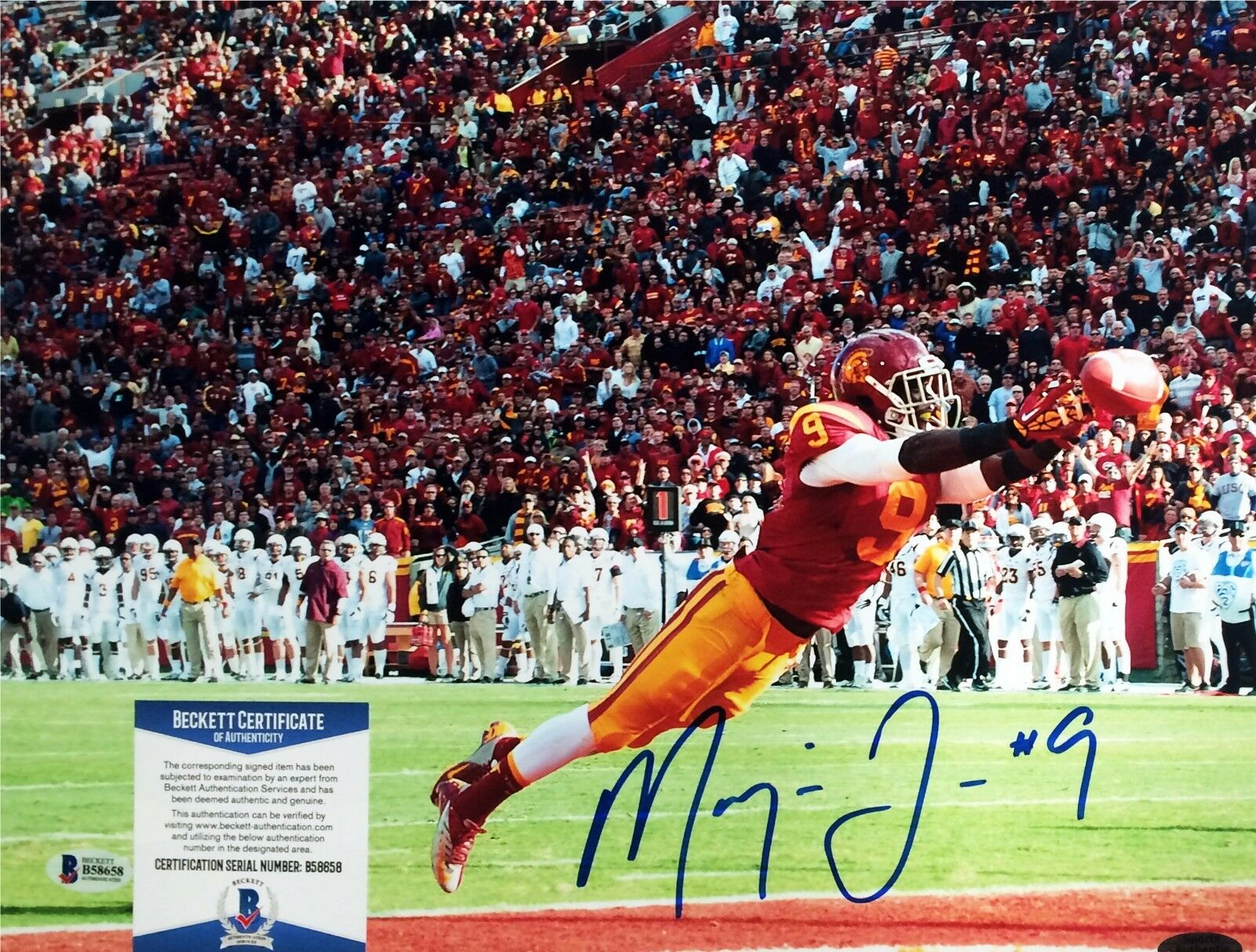 USC Jacksonville Jaguars Marqise Lee Signed 11x14 photo BAS Cert # B 58658