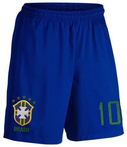 Brasilien Kinder Trikot Set Fußball Fan Zweiteiler Gelb Blau