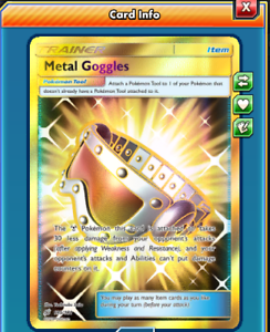 DIGITAL Metal Goggles Secret Rare pokemon tcg online