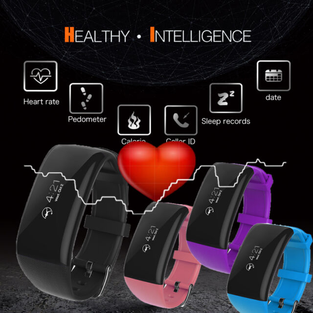 Heart Rate Monitor Bracelet Bluetooth Smart Watch Wristband Pedometer X16