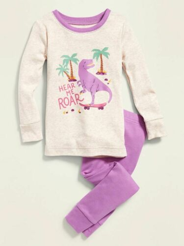 NWT OLD NAVY GIRLS PAJAMAS DINO dinosaur  Hear Me Roar   u pick size