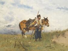 PAINTING MILITARY SCHREYER ARAB HORSEMEN ART PRINT POSTER PICTURE LF665
