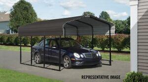 10x15x7 Arrow ShelterLogic Metal Carport CPHC101507 Wind ...