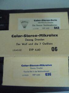 Photographica Kompetent 29641 3x Color Stereo Serie Mikrolux Wolf Die 7 Geißlein Bremer Stadtmusikanten