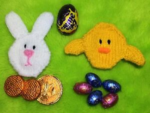Knitting pattern easter bunny and chick coin choc cream egg image is loading knitting pattern easter bunny and chick coin choc negle Choice Image