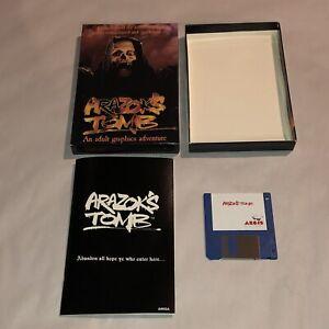 RARE Commodore Amiga Game ARAZOK'S TOMB  1987 Adult Graphic Adventure UNTESTED