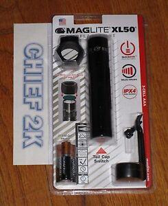 Maglite XL50 TAC Pack DEL Lampe de Poche AAA Cellule Réglable Torche Mag 200 lm