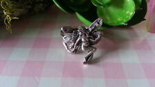 Beautiful  Engrave Erotic Nake Fairy   Ring 925 Sterling Silver* Size 6* A212