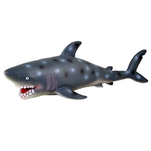 """doux en peluche Caoutchouc requin Jouer Jouet animal sea life 50 cm Grand 21/"""""""