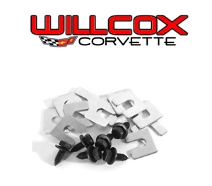 68-82 Corvette Radiator Support Bolt w// Shim Kit 18 pc Kit