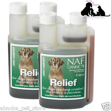 NAF CANINE RELIEF 500ml Senior Dog Vitality Movement Hips Joints Comfort Herbal