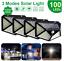 100LED-Solar-Power-Wall-Light-PIR-Sensor-Outdoor-Gargen-Security-Floodlight-Lamp thumbnail 1