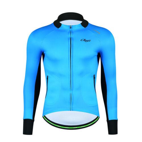 CHEJI Men/'s Thermal Fleece Cycling Jacket Winter Long Sleeve Biking Jersey Shirt