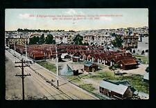 USA California SAN FRANSISCO Refugee Camp sfter 1906 Disaster 1909 PPC