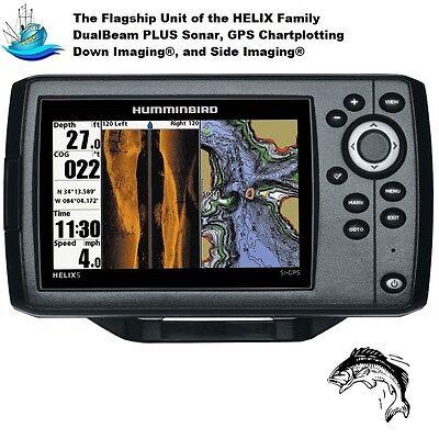 Humminbird Helix 5 G2 Chirp SI Fishfinder/GPS/Chartplotter With Built-in UniMap
