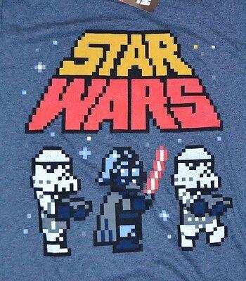 Star Wars Pixel Darth Vader Stormtrooper T Shirt Mens Tee Officially Licensed Ebay