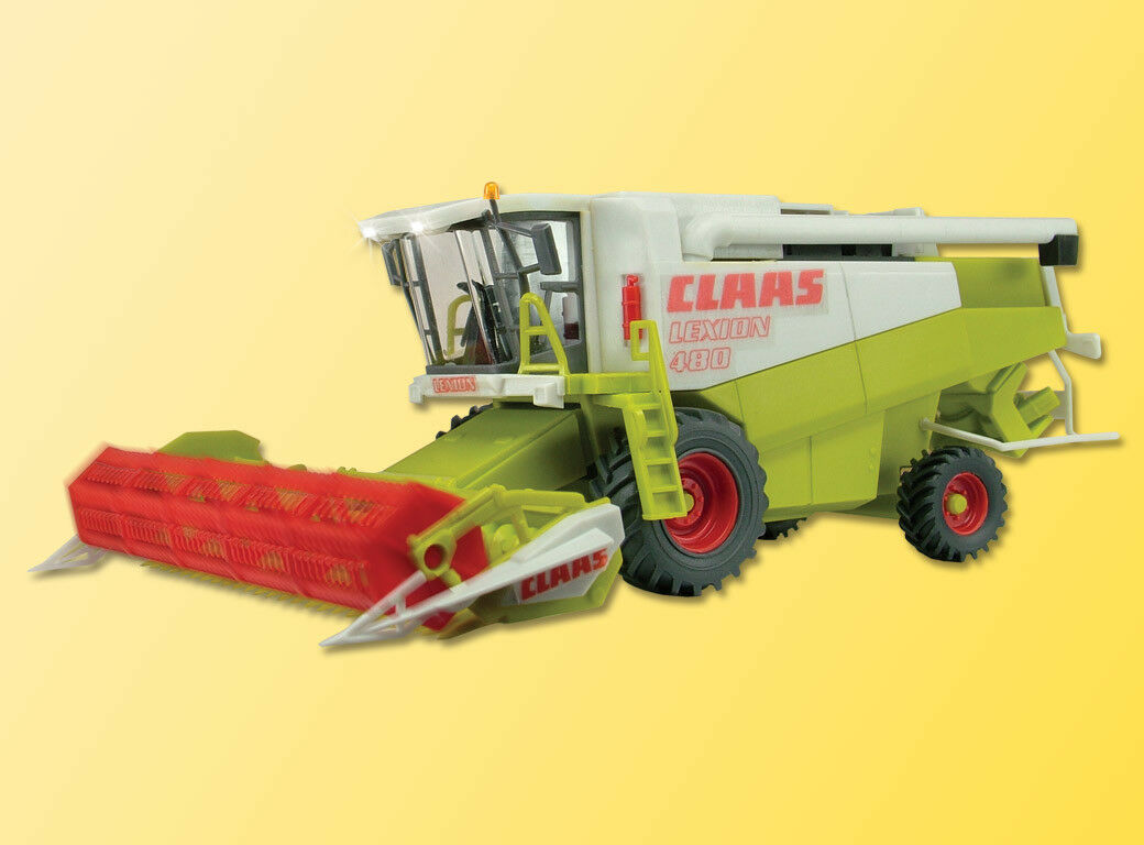 Viessmann 1259 Combine Harvester Claas with Headlights and redating Reel, H0