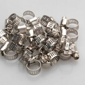 """15pcs  3//4/""""-1/"""" Adjustable Stainless Steel Drive Hose Clamps Fuel Line Worm Clip"""