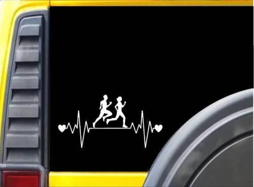 "Running Family Lifeline J779 8/"" Sticker runner decal ˜ marathon 26.2"