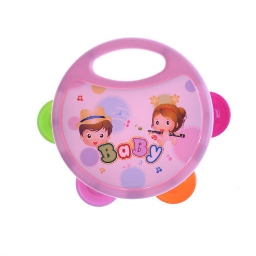 Plastic Hand Drum Musical Tambourine Beat Instrument Baby Educational Toy  FY