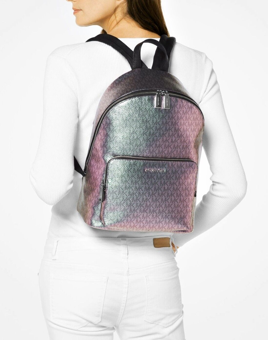 95b9ef67848cef Michael Kors MK Wythe Large Backpack Iridescent Metallic 328 for ...