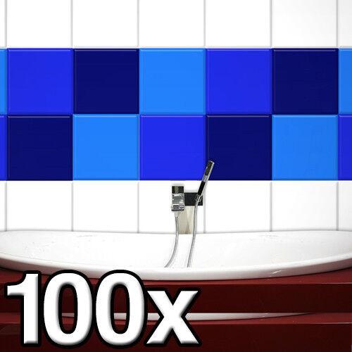 FLIESENAUFKLEBER 100 Stück in 25 x 25 cm Fliesendekor Fliesen Aufkleber Dusche