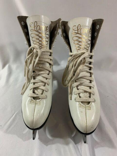 Vintage Lange Leather Ice Figure Skates Women's Size 7 Great Condition.