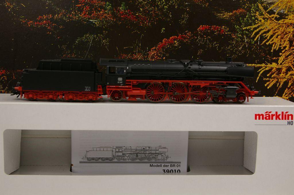 h0 39010 locomotiva a vapore BR 01 147 delle DB Sound MFX Nuovo/Scatola Originale a31