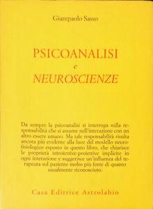 PSICOANALISI-E-NEUROSCIENZE-GIAMPAOLO-SASSO-ASTROLABIO-2005