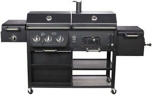 kombigrill gasgrill und holzkohlegrill arizona von el fuego grill smoker bbq ebay. Black Bedroom Furniture Sets. Home Design Ideas