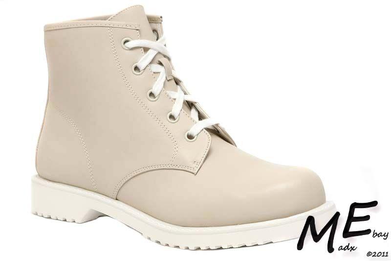 New Shellys London – Groellan Leather Women Boots Size 10 Beige (MSRP $130)