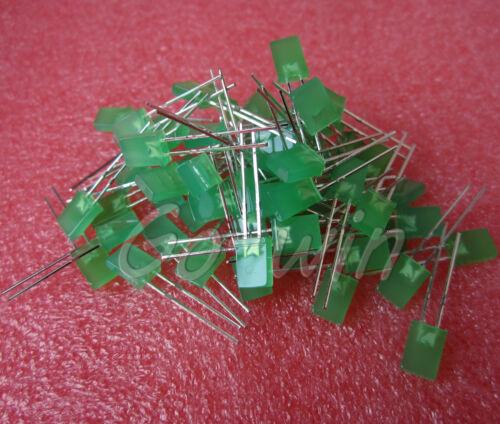500PCS 2x5x7mm Rectangle LED Green Colou Green Light Emitting Diode
