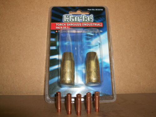 Clarke mig welder gas shrouds /& Contact tips 0.8 for Mig 145 152 180 /& 196