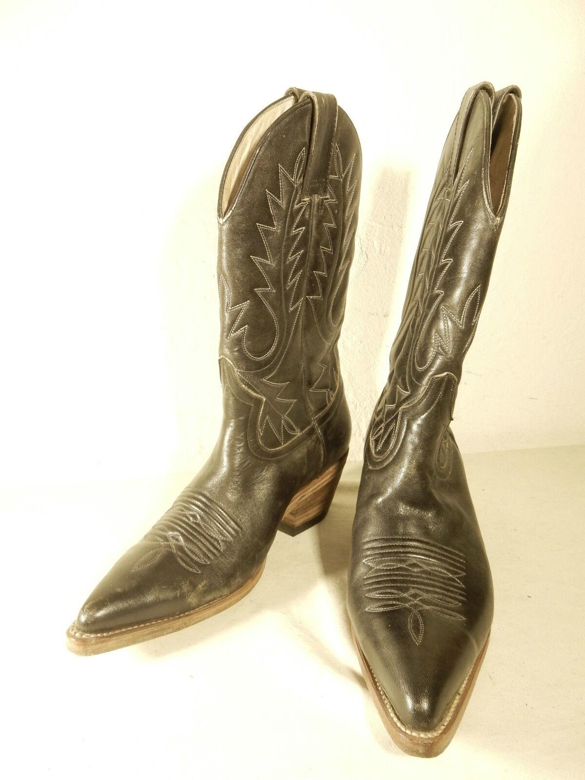 DESTROYER Cowboystiefel Stiefel Gr 36 schwarz Leder wenig getragen