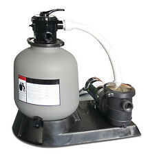 """Sand Master 71610 16"""" Above Ground Swimming Pool Filter Pump for Intex 2400 GPH"""