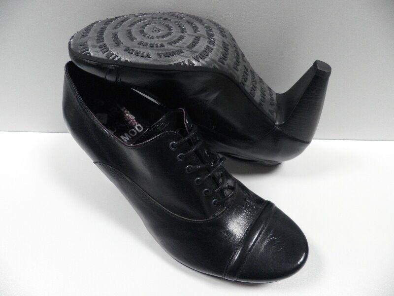 shoes VIRUS MODA black FEMME size 37 escarpins cuir schuhe NEUF  20395