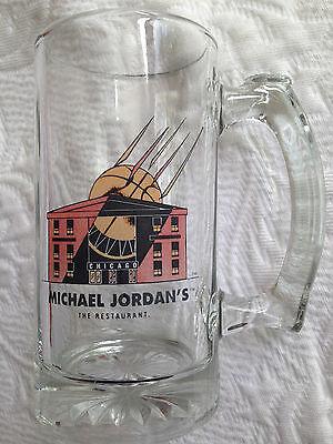 MICHAEL JORDAN 'S THE RESTAURANT GLASS BEER STEIN TANKARD NBA CHICAGO IL CLOSED