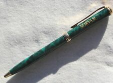 Drug Rep Pens ( Norvasc )  Heavy Metal Marble Swirl Green and Gold Slimline