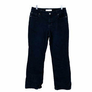 CHICO-039-S-PLATINUM-DENIM-Black-Stretch-Women-039-s-Boot-Cut-Jeans-Size-1-Reg-women-8