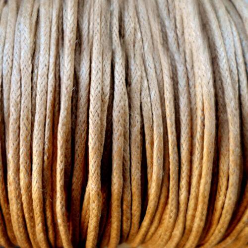Epaisseur 1 mm MARRON CLAIR 5 mètres de Fil Coton Ciré  CAMEL