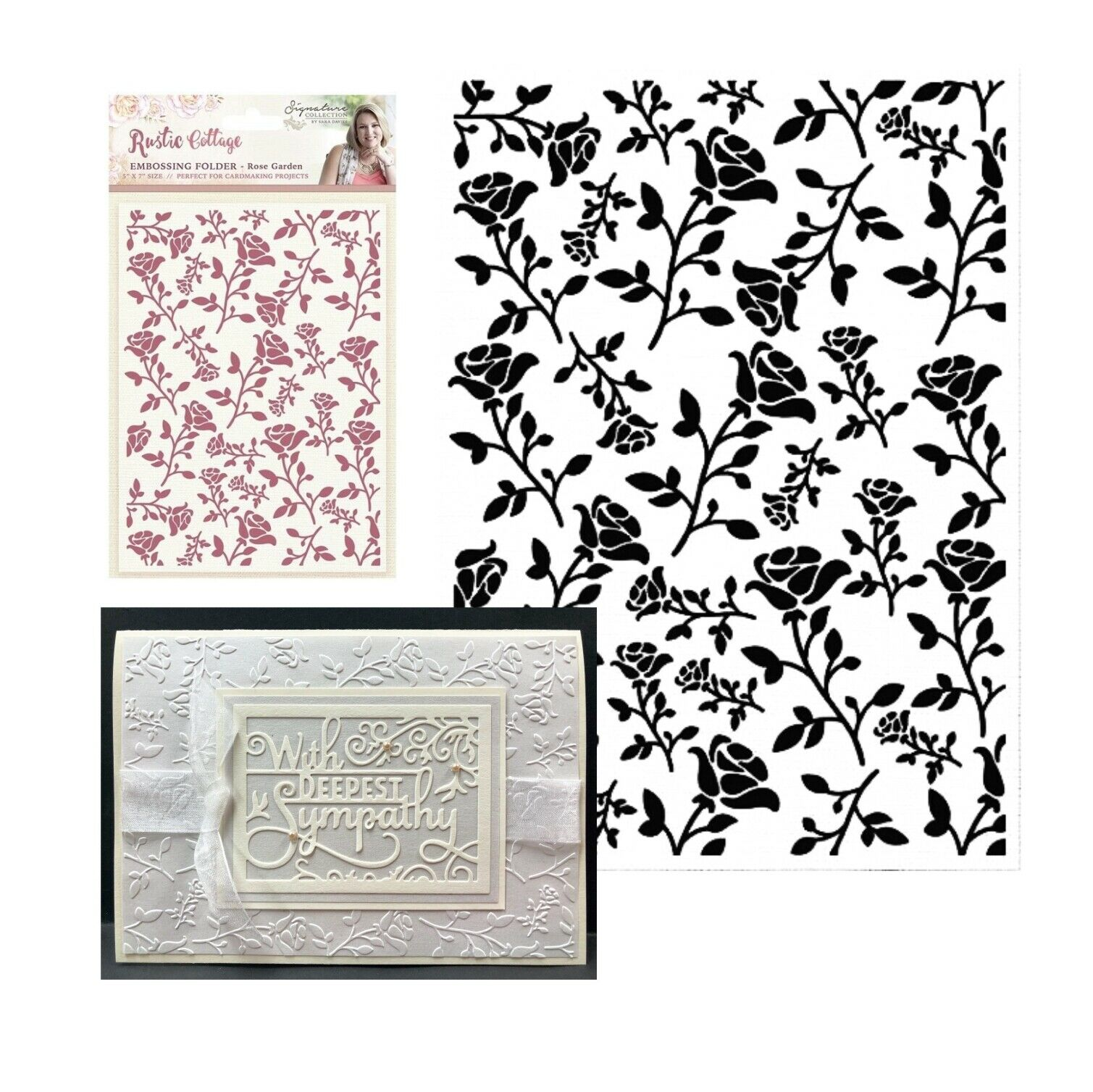 Crafter/'s Companion  Embossing Folder Holly Corner SARA SIGNATURE COLLECTION