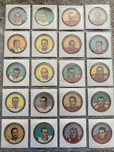 1963 Nalley CFL Coin Lot Of 20 . Patterson, Zuger,Grant , Henley. Beautiful !