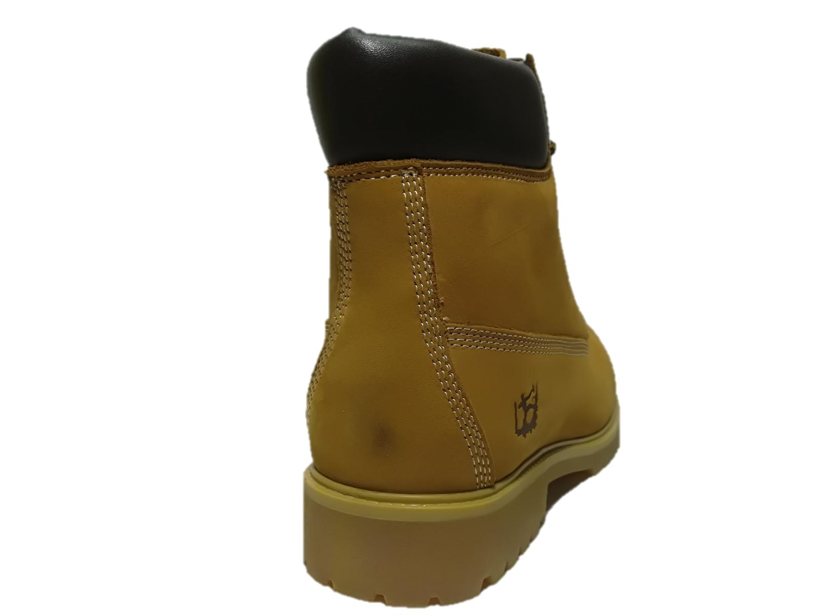 zapatos hombre SCARPONCINI ANFIBIO N.44 PELLE GIALLO GIALLO GIALLO TREKKING STONE CUT - SC500 281da2