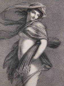 Lithographie Par Jules Boilly- d'après Prud'hon Lemercier- Paris Nue drappée