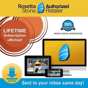 Rosetta-Stone-Learn-Language-Course-LIFETIME-HOMESCHOOL-Software-Code-Headset