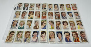 CIGARETTE-CARDS-John-Player-Tobacco-Film-Stars-3rd-Series-Full-Set-of-50-1938