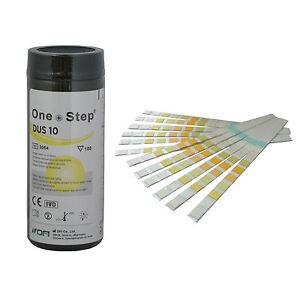 100 x Urine Test Strips 10 Parameter Urine Reagent Tests Diabetes, UTI, pH &More