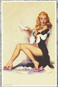 "1950's Earl Moran Pin-Up Poster Art Print ""What You Don't Owe"" 11x17 Marilyn"